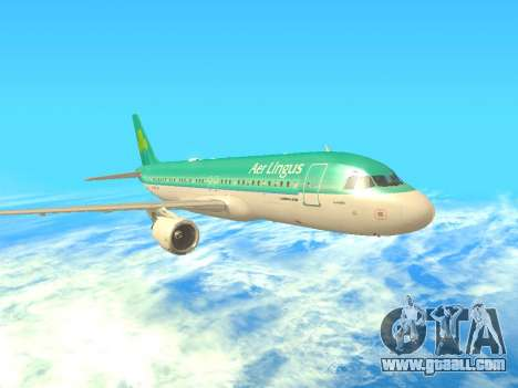 Airbus A320-200 Aer Lingus for GTA San Andreas left view