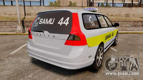 Volvo V70 SAMU 44 [ELS] for GTA 4 back left view