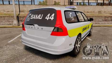 Volvo V70 SAMU 44 [ELS] for GTA 4 back left view
