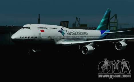 Boeing 747-400 Garuda Indonesia for GTA San Andreas inner view