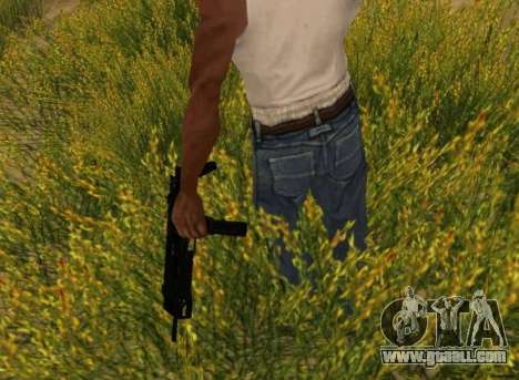 MP7 for GTA San Andreas fifth screenshot