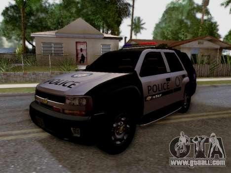 Chevrolet TrailBlazer Police for GTA San Andreas back view