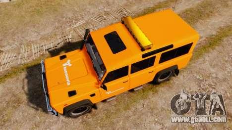 Land Rover Defender tecnovia [ELS] for GTA 4 right view