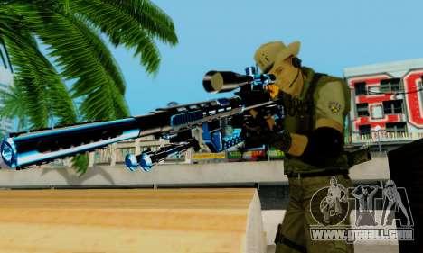 Resident Evil Apocalypse S.T.A.R.S. Sniper Skin for GTA San Andreas seventh screenshot