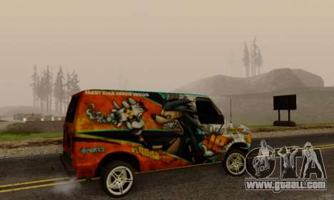 Ford E-150 GT-Shop for GTA San Andreas right view