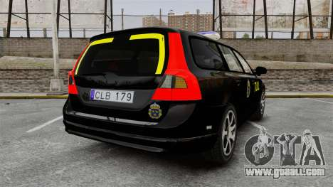 Volvo V70 Swedish TULL [ELS] for GTA 4 back left view