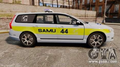 Volvo V70 SAMU 44 [ELS] for GTA 4 left view