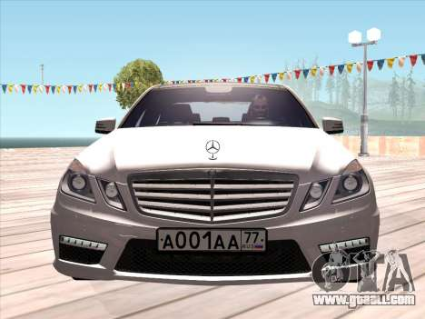 Mercedes-Benz E63 AMG 2010 for GTA San Andreas left view