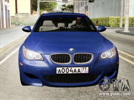 BMW M5 E60 2010 for GTA San Andreas back left view