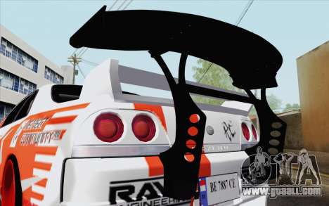 Nissan Skyline GT-R32 for GTA San Andreas right view