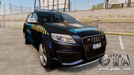 Audi Q7 Hungarian Police [ELS] for GTA 4