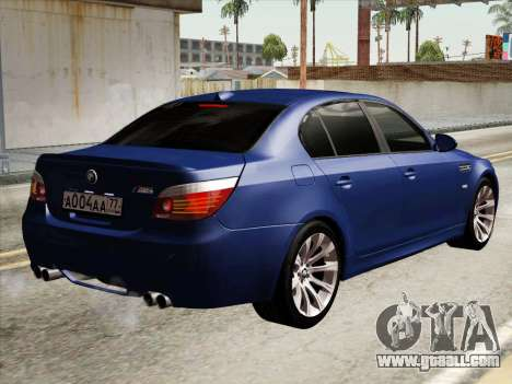 BMW M5 E60 2010 for GTA San Andreas right view