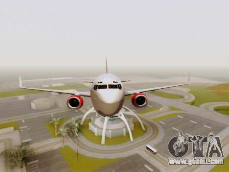 Boeing 737-800 Air Algerie for GTA San Andreas side view