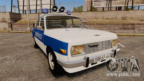 Wartburg 353w Deluxe Hungarian Police for GTA 4