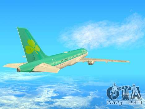 Airbus A320-200 Aer Lingus for GTA San Andreas inner view
