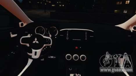 Mitsubishi Lancer Evolution X 2008 for GTA 4 inner view