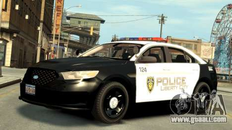 Ford Police Interceptor LCPD 2013 [ELS] for GTA 4 left view