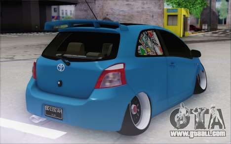 Toyota Yaris Hellaflush Young Child for GTA San Andreas back left view