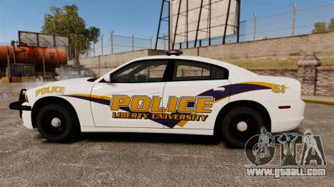 Dodge Charger 2013 Liberty University Police ELS for GTA 4 left view