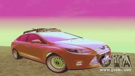 Ford Focus Sedan Hellaflush for GTA San Andreas
