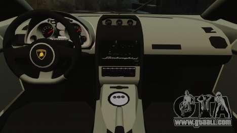 Lamborghini Gallardo LP570-4 Martini Raging for GTA 4 inner view