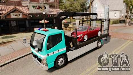 Mitsubishi Fuso Canter Japanese Auto Rescue for GTA 4 inner view
