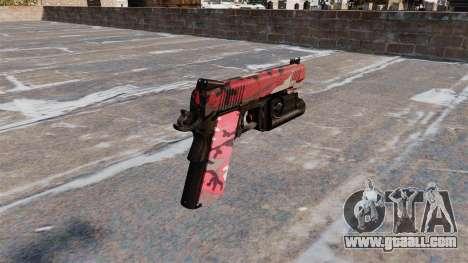 Semi-automatic pistol Kimber for GTA 4 second screenshot