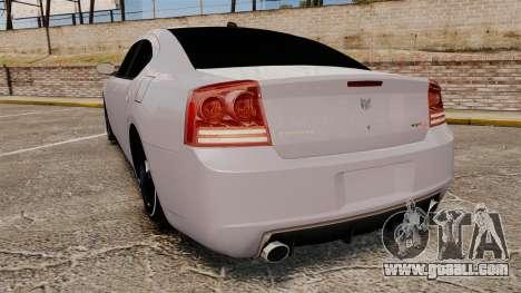 Dodge Charger SRT8 2007 for GTA 4 back left view
