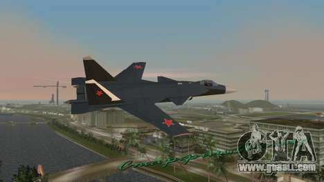 Su-47 Berkut for GTA Vice City back left view