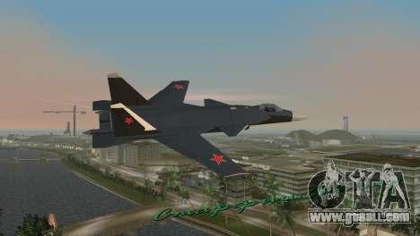 Su-47 Berkut for GTA Vice City back left view