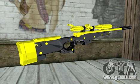 Yellow Sniper Rifle for GTA San Andreas second screenshot