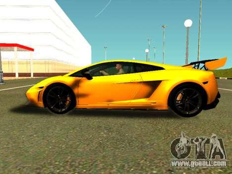 Lamborghini Gallardo Super Trofeo Stradale for GTA San Andreas back left view