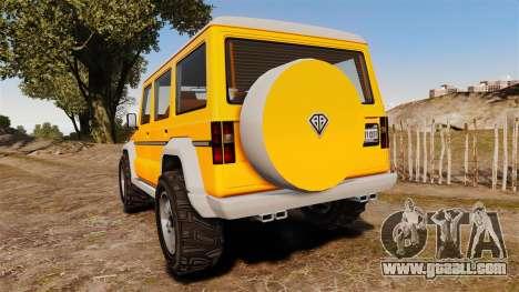 GTA V Benefactor Dubsta new wheels for GTA 4 back left view