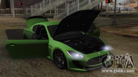 Maserati GranTurismo MC Stradale for GTA San Andreas wheels