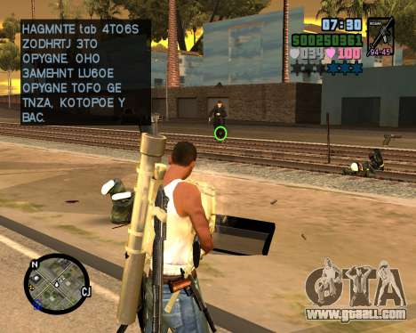 C-HUD Vice Sity for GTA San Andreas third screenshot