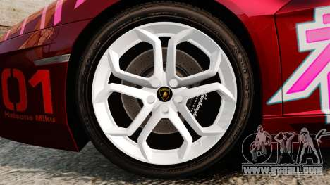 Lamborghini Aventador LP700-4 2012 [EPM] Miku for GTA 4 back view