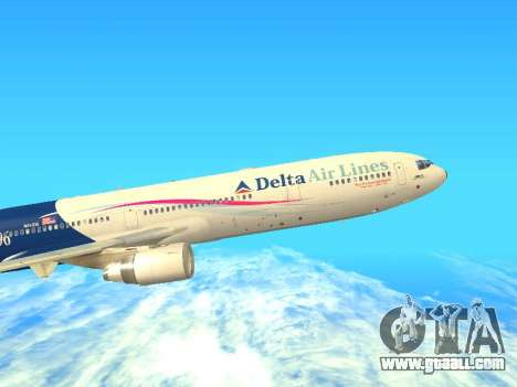 McDonnell Douglas MD-11 Delta Airlines for GTA San Andreas left view