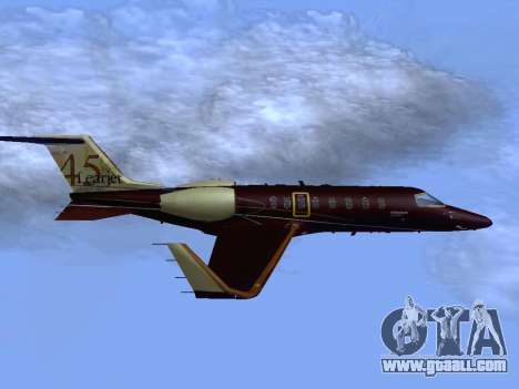 Bombardier Learjet 45 for GTA San Andreas right view