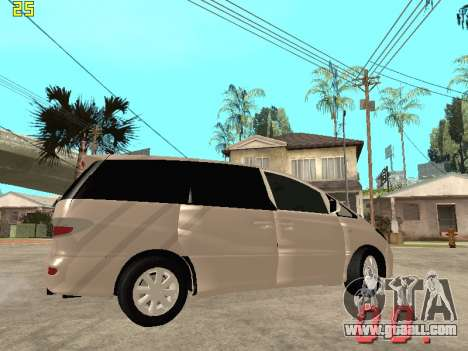 Toyota Estima KZ Edition 4wd for GTA San Andreas inner view