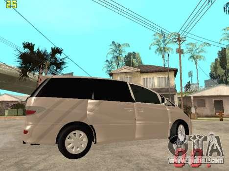 Toyota Estima KZ Edition 4wd for GTA San Andreas inner view