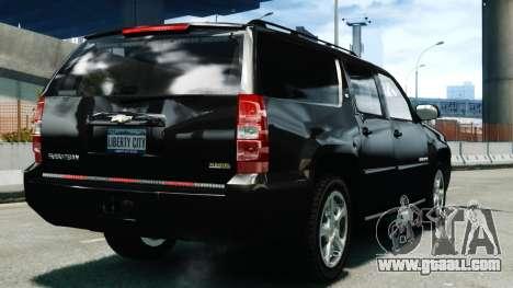 Chevrolet Suburban 2008 FBI [ELS] for GTA 4 back left view