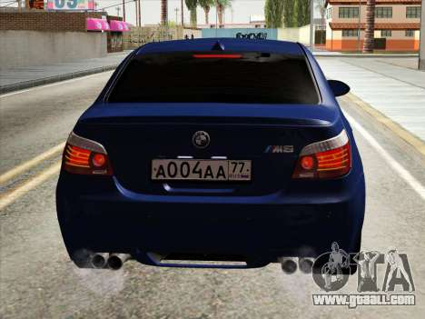 BMW M5 E60 2010 for GTA San Andreas inner view