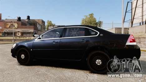 Chevrolet Impala 2010 LS Unmarked K9 Unit [ELS] for GTA 4 left view