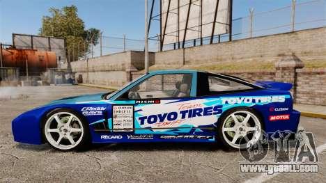 Mazda RX-7 Kawabata Toyo for GTA 4 left view