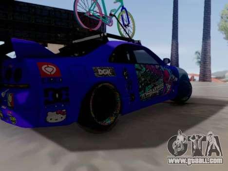 Nissan GT-R R33 HellaFlush V2 for GTA San Andreas back view