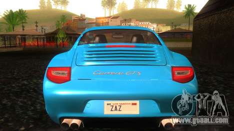 Porsche 911 Carrera GTS 2011 for GTA San Andreas bottom view