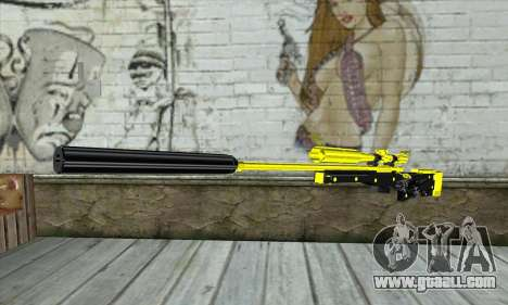 Yellow Sniper Rifle for GTA San Andreas