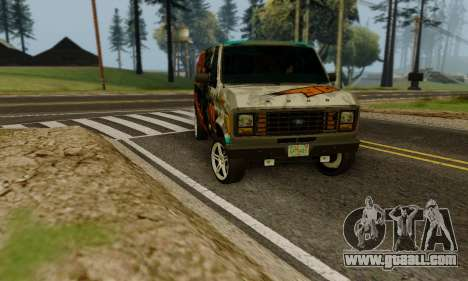 Ford E-150 GT-Shop for GTA San Andreas inner view