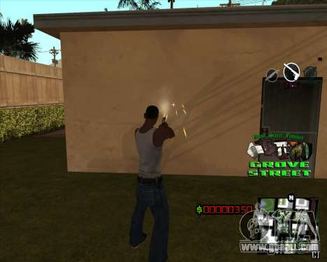 C-HUD West Side Grove Street for GTA San Andreas second screenshot