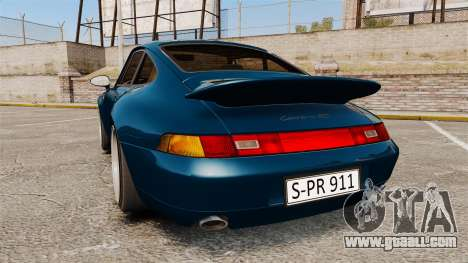 Porsche Carrera RS 1995 for GTA 4 back left view
